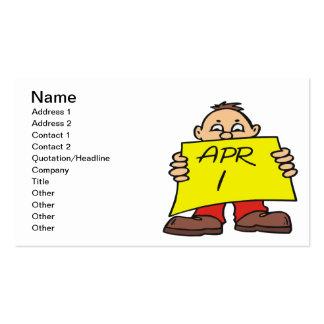 1 de abril tarjetas de visita