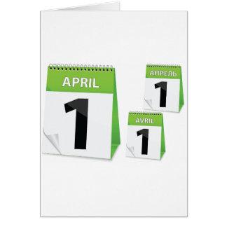 1 de abril tarjetas de felicitación del calendario