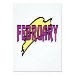 1 de febrero invitación 12,7 x 17,8 cm