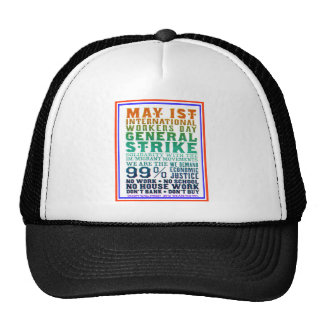 1 de mayo el día internacional de los trabajadores gorras de camionero