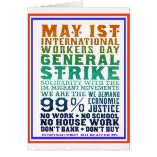1 de mayo el día internacional de los trabajadores tarjeta