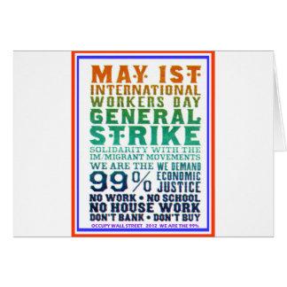 1 de mayo el día internacional de los trabajadores tarjeta de felicitación