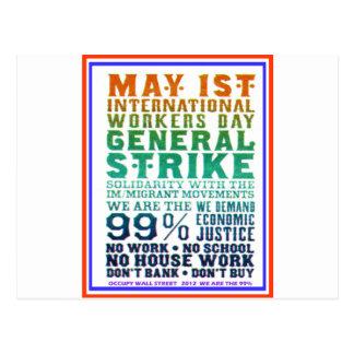 1 de mayo el día internacional de los trabajadores tarjeta postal