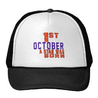1 de octubre una estrella nació gorro de camionero