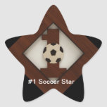 #1 Diamond Soccer Star Sticker