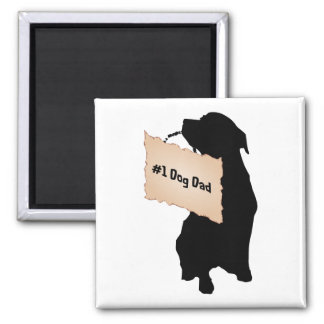 #1 Dog Dad Magnet