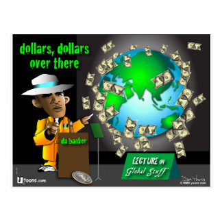 1 dollars over there postcard