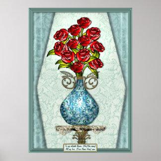 1 Dozen Roses (Personalized Print) Poster