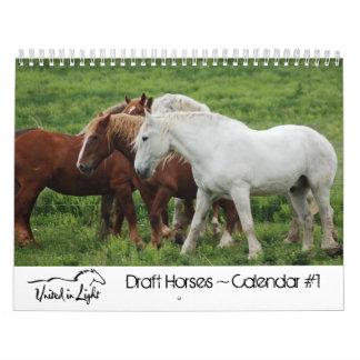 #1 Draft Horses Calendar