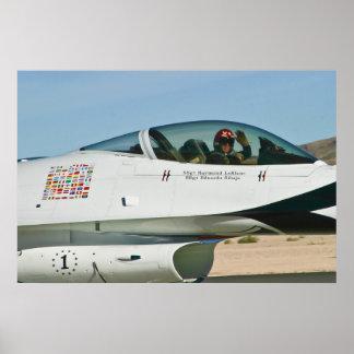 #1 el U.S.A.F. Thunderbird da una onda Póster
