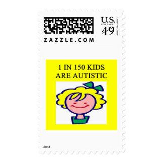 1 en 150 niños es autistics sellos