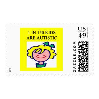 1 en 150 niños es autistics sello