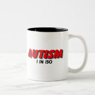1 en 150 (rojo) taza de café de dos colores