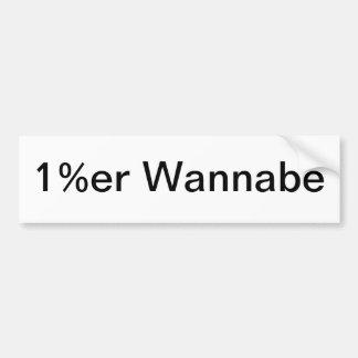 1%er Wannabe Bumper Sticker