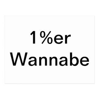 1%er Wannabe Post Cards
