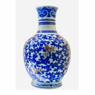 (1) escultura de cerámica antigua de la foto fotoescultura vertical