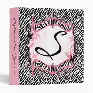 1 estampado de zebra de la mariposa del libro de