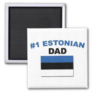 #1 Estonian Dad 2 Inch Square Magnet