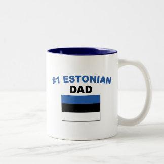 #1 Estonian Dad Two-Tone Coffee Mug