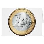 1 EURO Coin Card