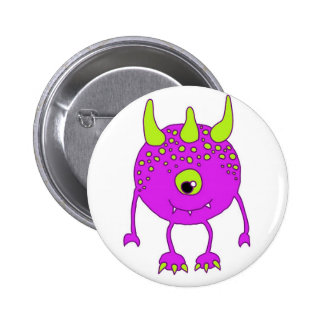 1 eye - One EYE - FlipFlop Monster in Rare Purple! Button
