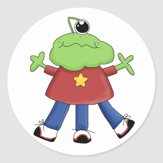 1 Eye Star Monster Fun Stickers