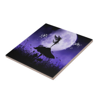 1 Fairy Silhouette 2 Ceramic Tiles