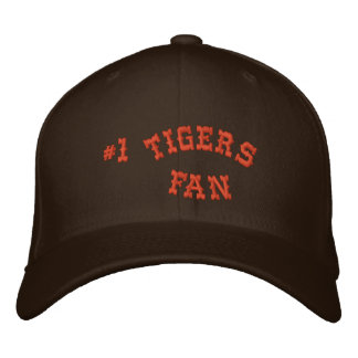 #1 Fan Brown and Orange Basic Flexfit Wool Embroidered Baseball Cap