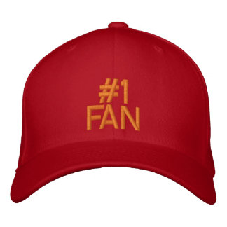 #1 FAN Customizable Cap by eZaZZleMan.com Embroidered Baseball Caps