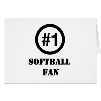 # 1 fan del softball tarjeta de felicitación