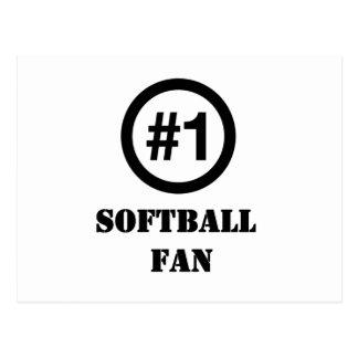 # 1 fan del softball tarjetas postales