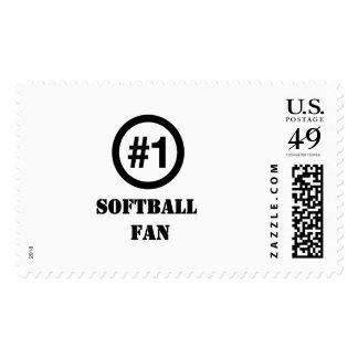 # 1 fan del softball timbre postal