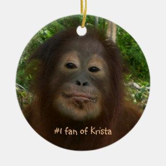 #1 fan of Krista Orangutan Ornaments