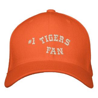 #1 Fan Orange and Cream Basic Flexfit Wool Baseball Cap