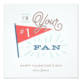 #1 Fan Valentine's Day Card