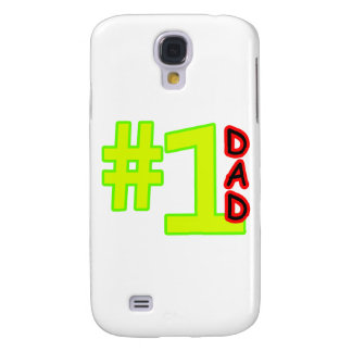 #1 Father's Day Yellow Red The MUSEUM Zazzle Gifts Samsung Galaxy S4 Case