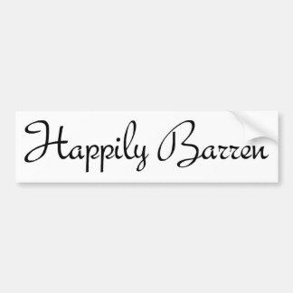 #1 feliz estéril pegatina de parachoque