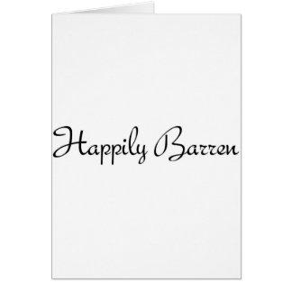 #1 feliz estéril tarjeta de felicitación