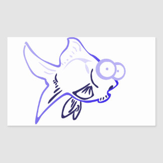 1 fish rectangular sticker