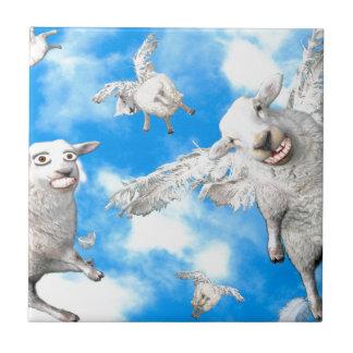 1_FLYING SHEEP CERAMIC TILE