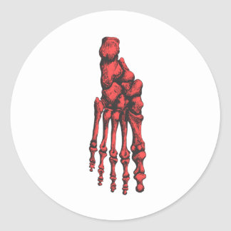 1 Foot Down Red Classic Round Sticker