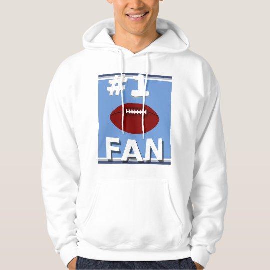 #1 Football Fan Baby Blue and Navy Sweatshirt