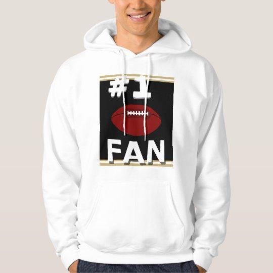 #1 Football Fan Black & Gold Sweatshirt