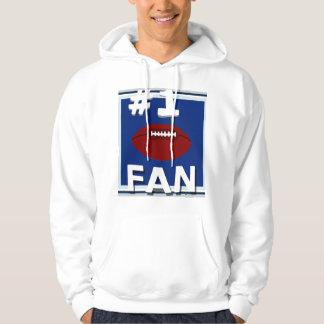 #1 Football Fan Blue White & Silver Sweatshirt
