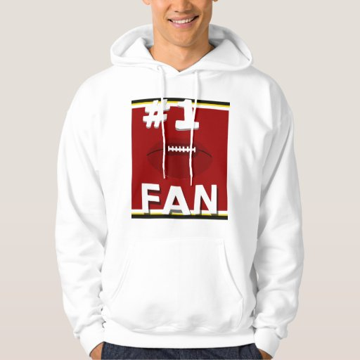 #1 Football Fan Cardinal and Gold Sweatshirt
