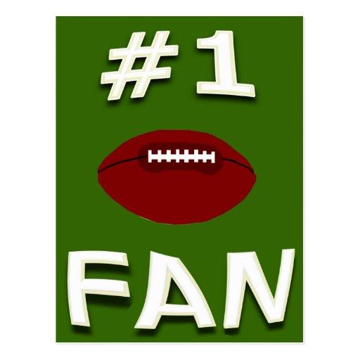 #1 Football Fan Postcard