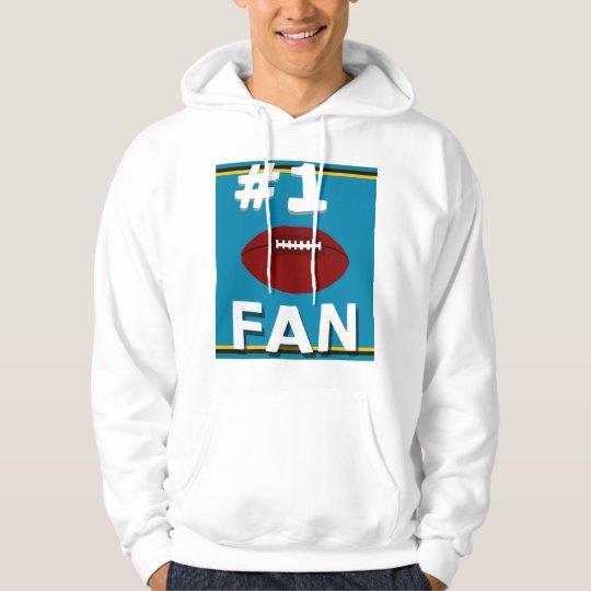 #1 Football Fan Teal and Gold Sweatshirt