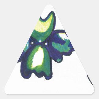 1 fractal de la vida de N Pegatina Triangular