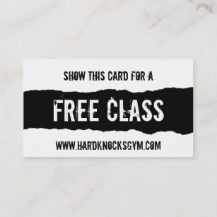 Gym business cards templates zazzle 1 free class workout gym business card vip pass colourmoves