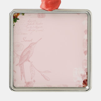 1 free digital scrapbook paper - sweet spring rose christmas tree ornament